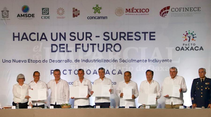 """Firman """"Pacto por Oaxaca"""", gobernadores del sur sureste y AMLO   El Imparcial de Oaxaca"""