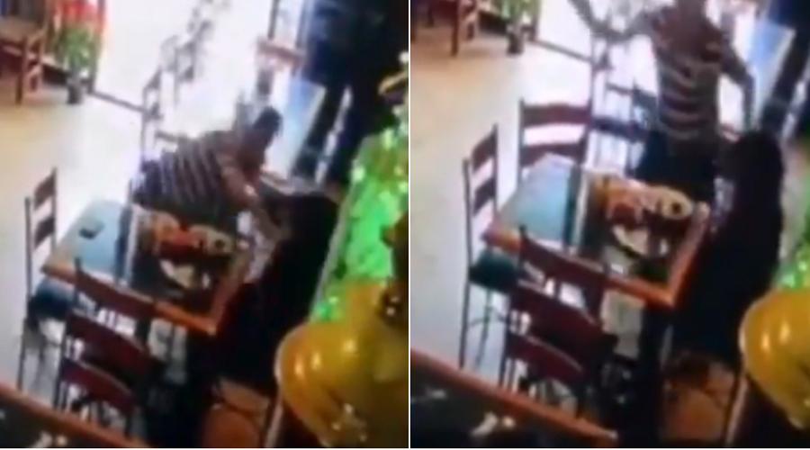 Video: Un sujeto golpea en el rostro a una mujer en restaurante; mesero interviene | El Imparcial de Oaxaca