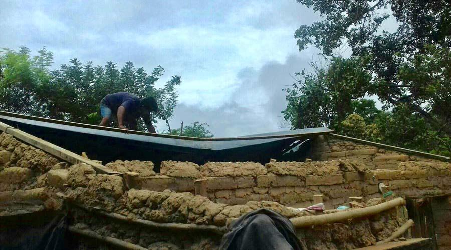 Vivienda se queda sin techo por lluvias en la Costa | El Imparcial de Oaxaca