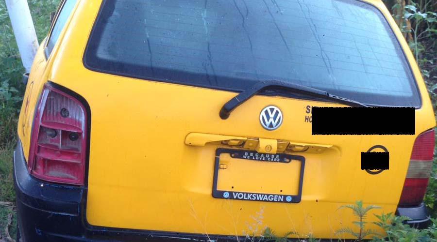 Abandonan taxi tras accidente en la Mixteca   El Imparcial de Oaxaca