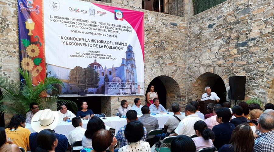 Teotitecos conocieron la historia de su templo católico | El Imparcial de Oaxaca