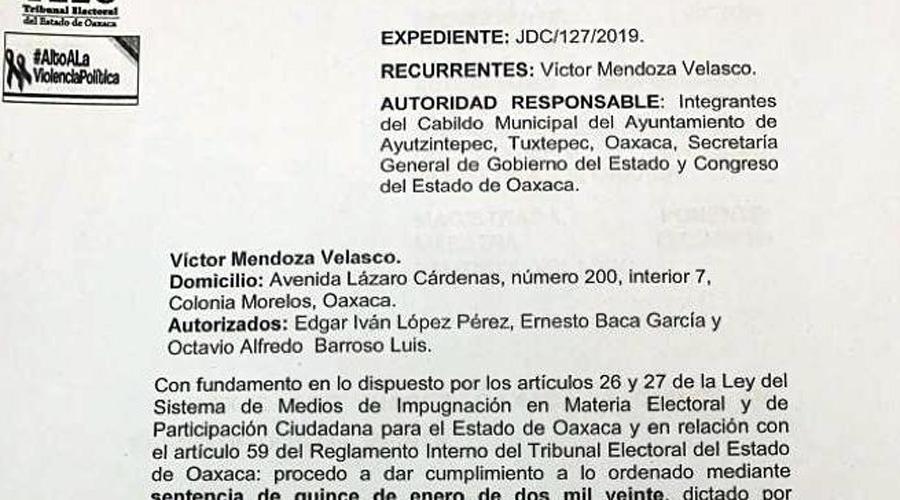 Devuelven la presidencia a edil de Ayotzintepec | El Imparcial de Oaxaca