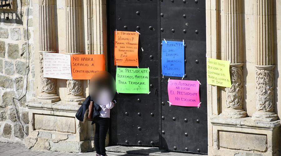 Paralizan labores en el Ayuntamiento de Oaxaca de Juárez   El Imparcial de Oaxaca