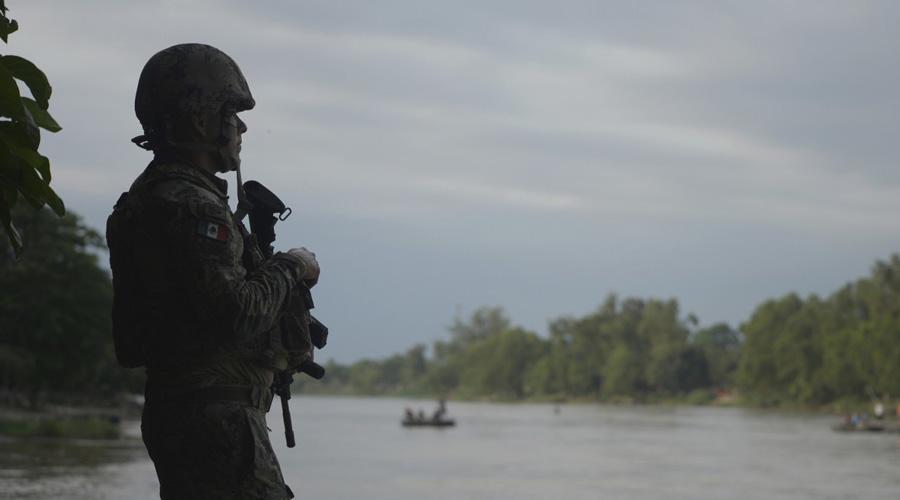 Agentes del INM y Guardia Nacional vigilan el Río Suchiate | El Imparcial de Oaxaca
