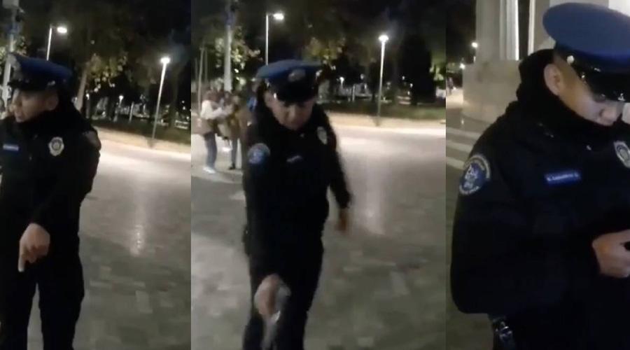 Video: Policía saca arma y amenaza con dispararle a perro   El Imparcial de Oaxaca