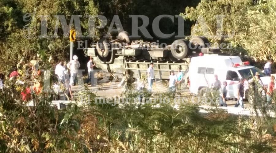 Vuelca camión de Guardia Nacional en la Sierra Norte de Oaxaca: 3 muertos y 35 heridos | El Imparcial de Oaxaca