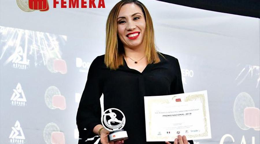 Xhunashi Caballero recibe reconocimiento especial por la Federación Mexicana de Karate | El Imparcial de Oaxaca