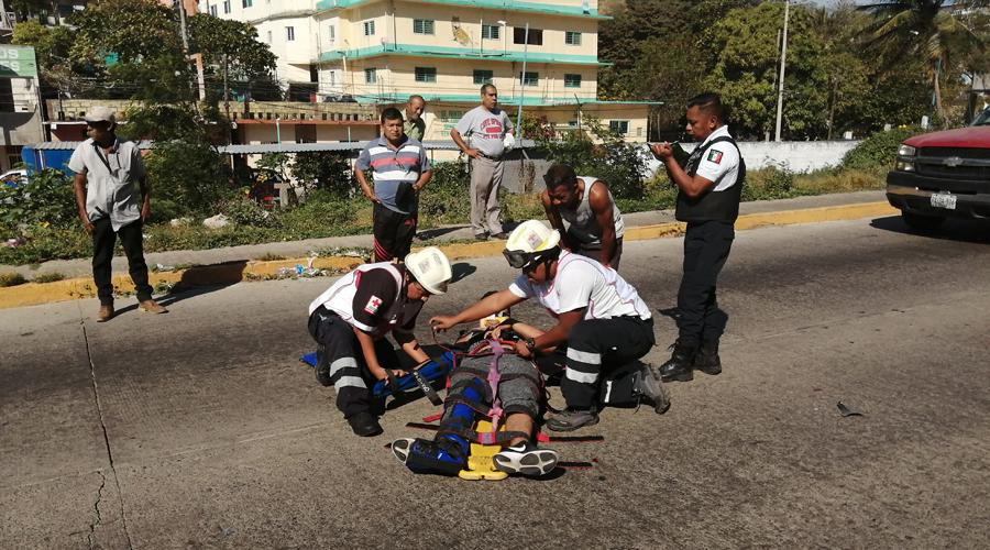 Motociclista derrapa brutalmente en Salina Cruz | El Imparcial de Oaxaca