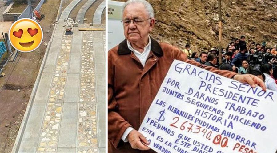 Albañiles construyen caminos en Oaxaca y ahorran 267 mil pesos; se los devuelven a AMLO | El Imparcial de Oaxaca