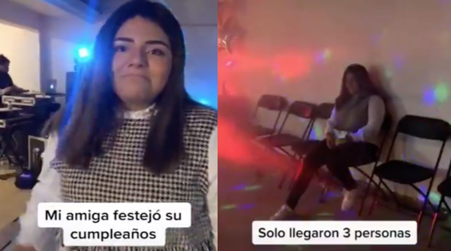 Joven organiza gran fiesta de cumpleaños; sólo van tres invitados | El Imparcial de Oaxaca