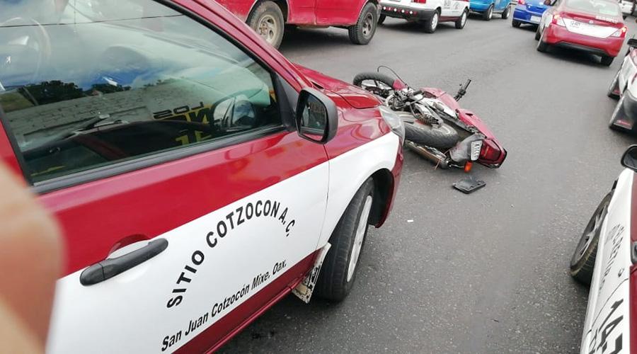 Taxista arrolla a motociclista en la Eliseo Jiménez Ruiz | El Imparcial de Oaxaca