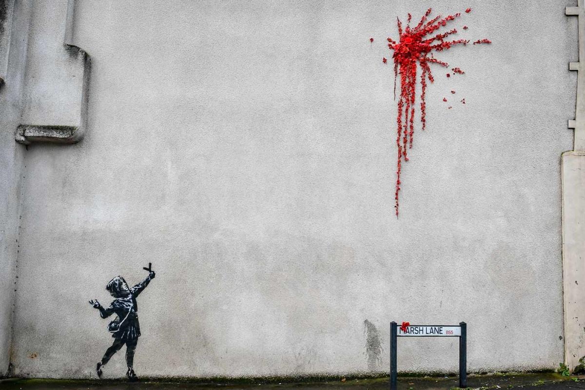 Vandalizan obra de Banksy sobre San Valentín   El Imparcial de Oaxaca