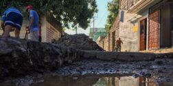 Gastan en pavimentación, sin reparar sistema de drenaje en Tehuantepec