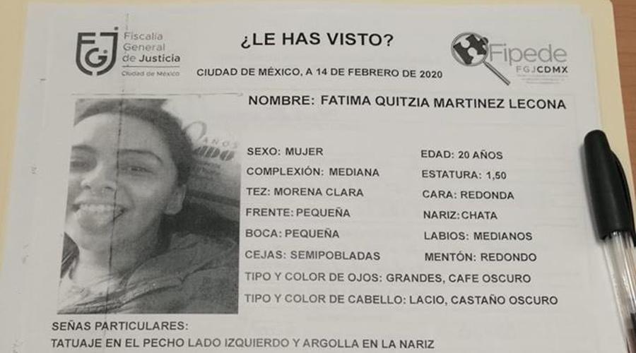Localizan a Fátima, la estudiante de la UNAM reportada como desaparecida | El Imparcial de Oaxaca