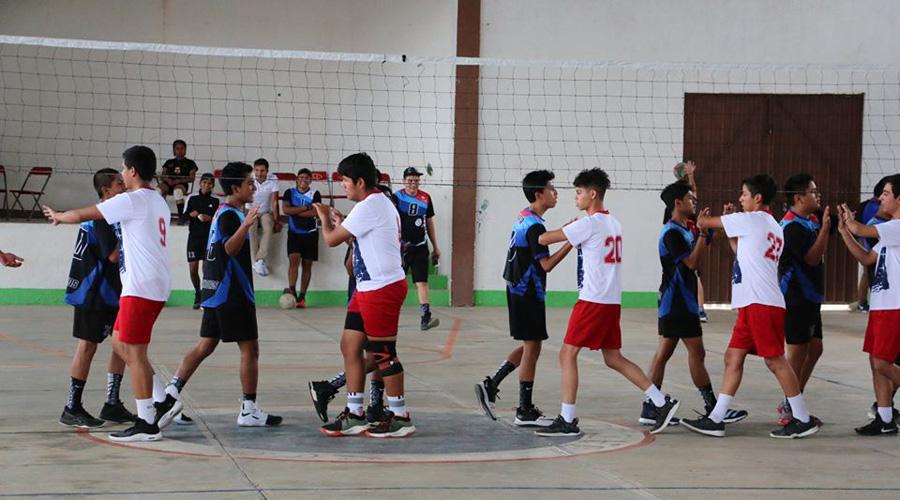 Realizan eliminatoria regional de voleibol en Jalieza