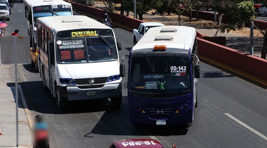 Transporte urbano en Oaxaca, obsoleto y antiguo