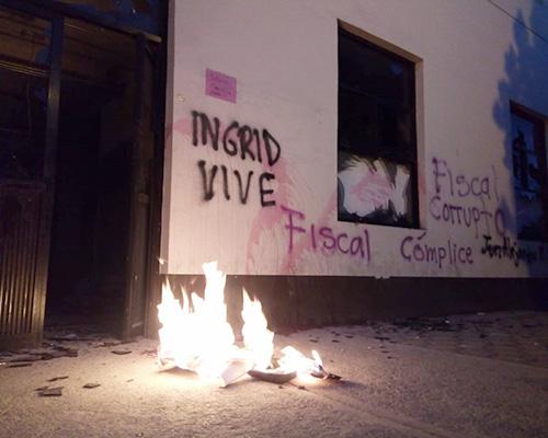 Feministas causan destrozos en el CEJUM | El Imparcial de Oaxaca