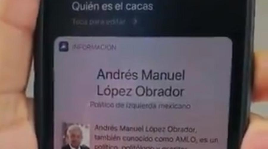 Video: Siri de Apple dice que El Cacas es López Obrador   El Imparcial de Oaxaca