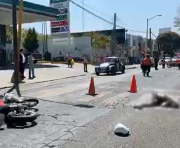 Mortal arrollamiento sufre motociclista en el Periférico de Oaxaca
