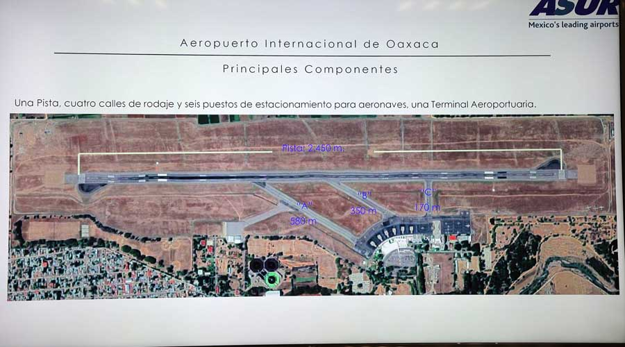 Triplicarán tamaño del aeropuerto de Oaxaca