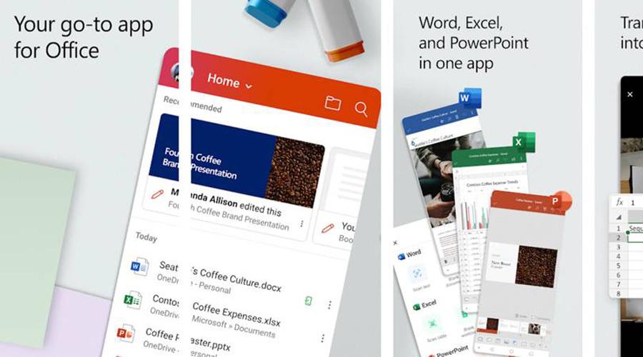 Word, PowerPoint y Excel en una sola app — Microsoft Office