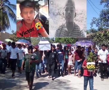 Dan el último adiós a estudiante asesinado en la Costa de Oaxaca