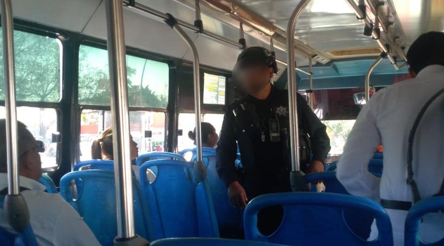 En Oaxaca realizan operativo contra polarizado de camiones del servicio urbano