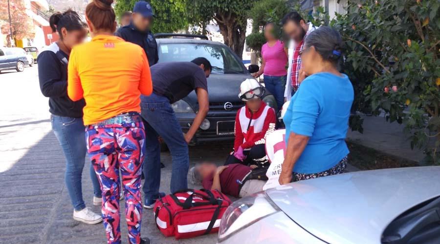 Mujer es arrollada por conductor de una camioneta en la colonia Adolfo López Mateos