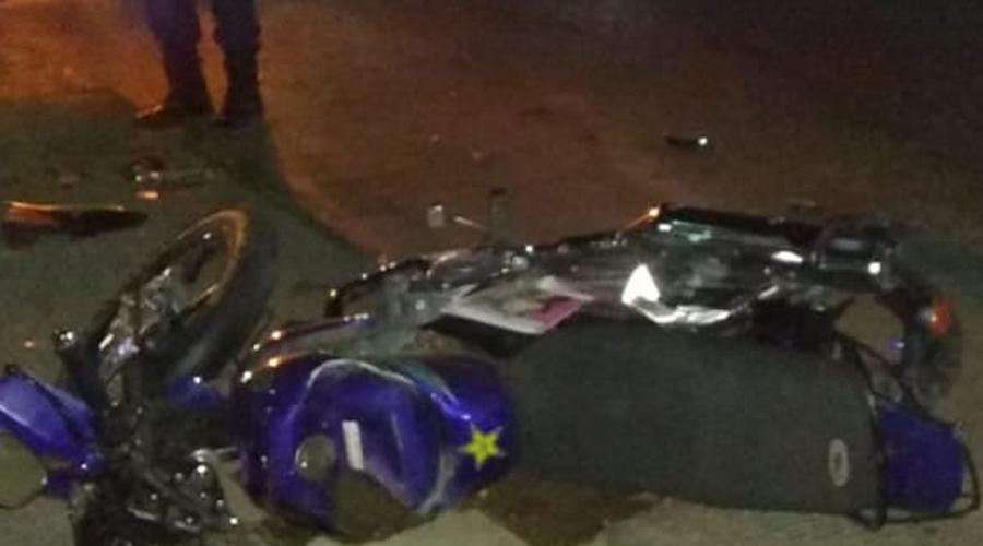 Persona en estado de ebriedad arrolla a motociclista en avenida del Rosario