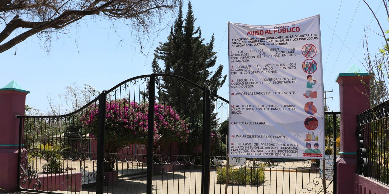 Cierran parques de Oaxaca por Covid-19
