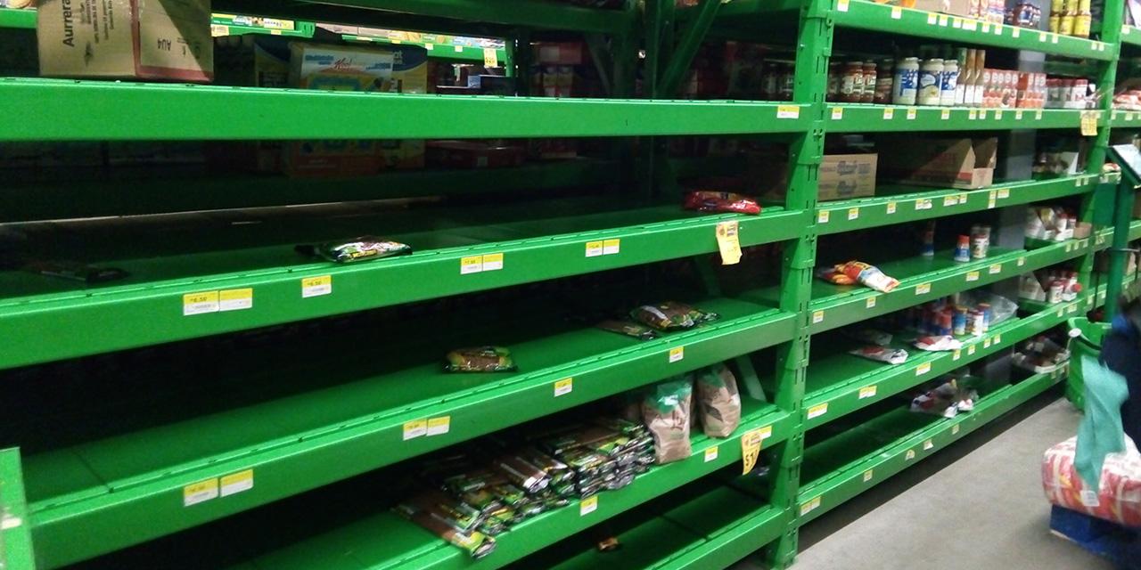 Compras de pánico en Oaxaca ocasionan desabasto y alza de precios