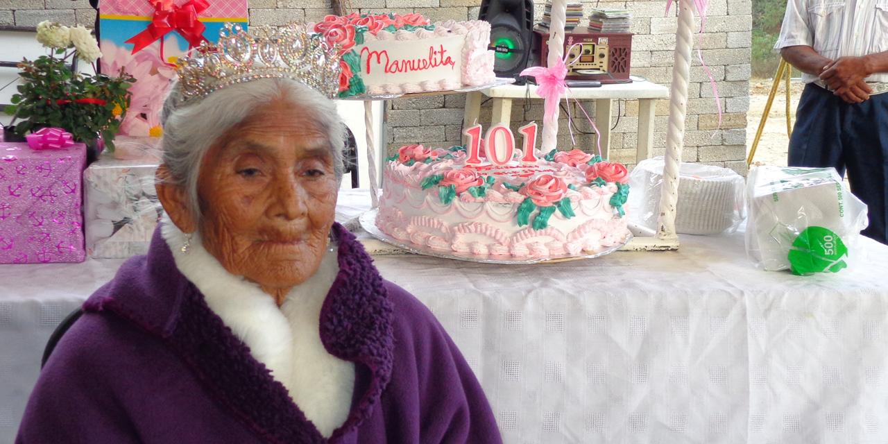 Doña Manuela López, sin enfermedad a sus 101 años