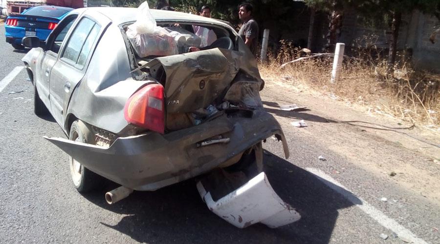 """¡Dos choques con lesionados en """"La Cuesta"""" de Ocotlán!"""