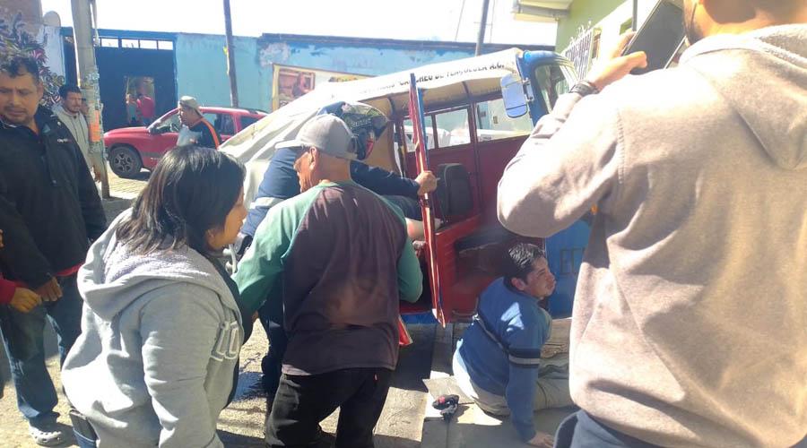 Vuelca un mototaxista en Tlacolula | El Imparcial de Oaxaca