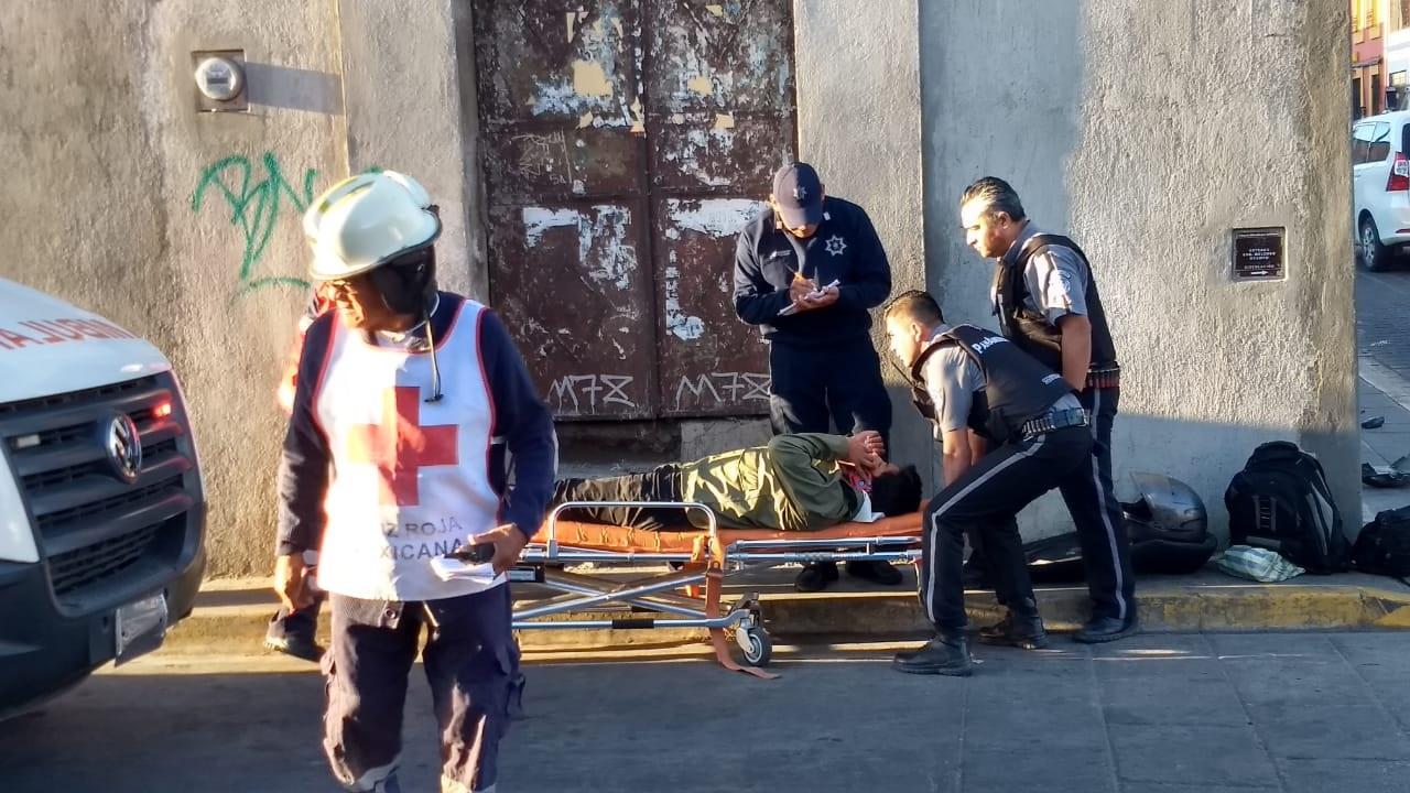 Arrollan y mandan al hospital a motociclista | El Imparcial de Oaxaca