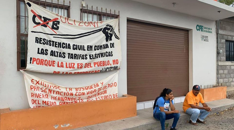 Integrantes de UCIZONI se manifiestan por altas tarifas en el Istmo de Oaxaca | El Imparcial de Oaxaca