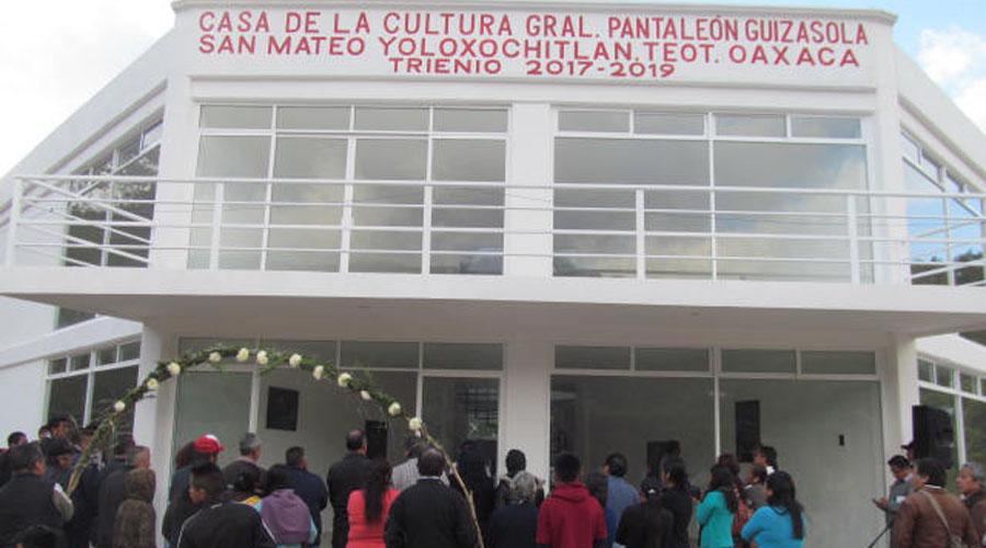 Estrenan Casa de la Cultura en San Mateo Yoloxochitlán | El Imparcial de Oaxaca