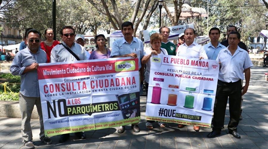 Reiteran ciudadanos rechazo al proyecto de parquímetros en Oaxaca | El Imparcial de Oaxaca