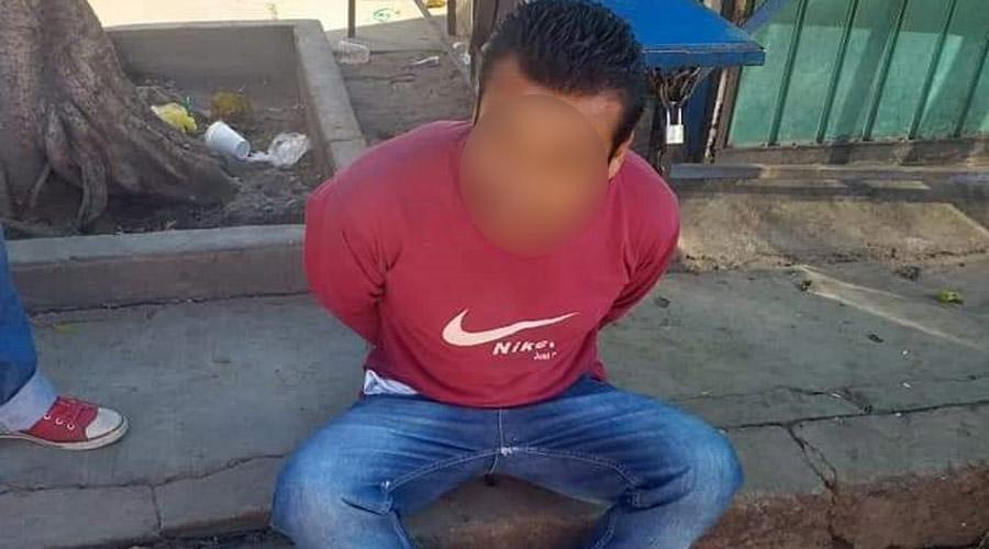 Ladrón de baterías en Zaachila ya trae historial delictivo