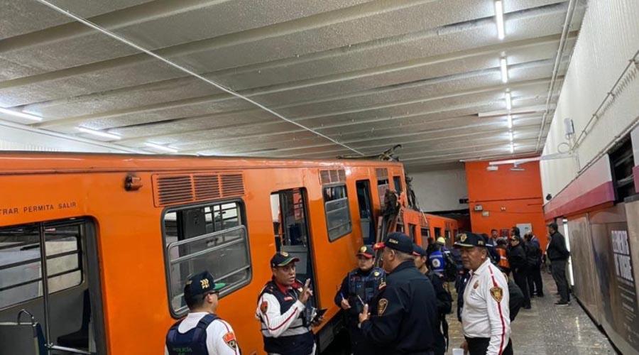 Chocan trenes del metro en la ciudad de México, el saldo un muerto y 41 heridos | El Imparcial de Oaxaca