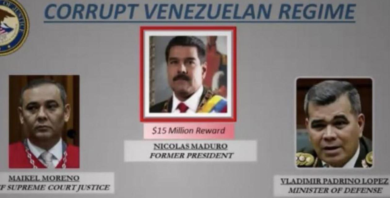 Estados Unidos acusa a Maduro de narcoterrorismo, ofrecen 15  mdd por él | El Imparcial de Oaxaca
