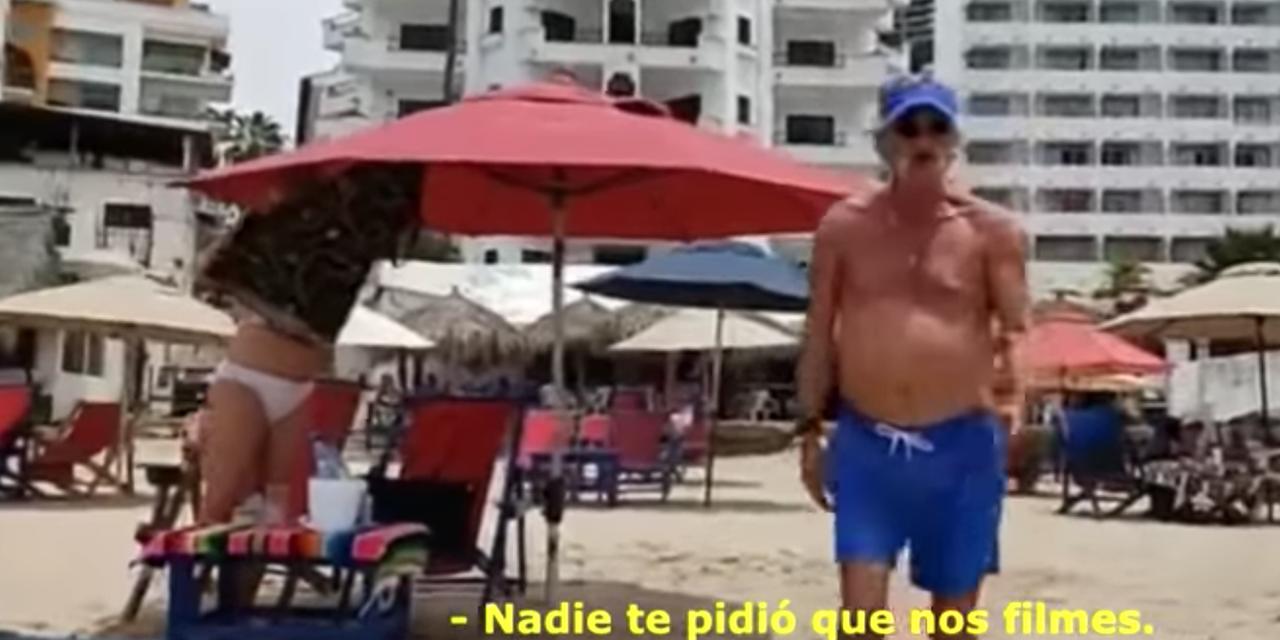 Video:  Turistas agreden a reportera que los captó en la playa | El Imparcial de Oaxaca