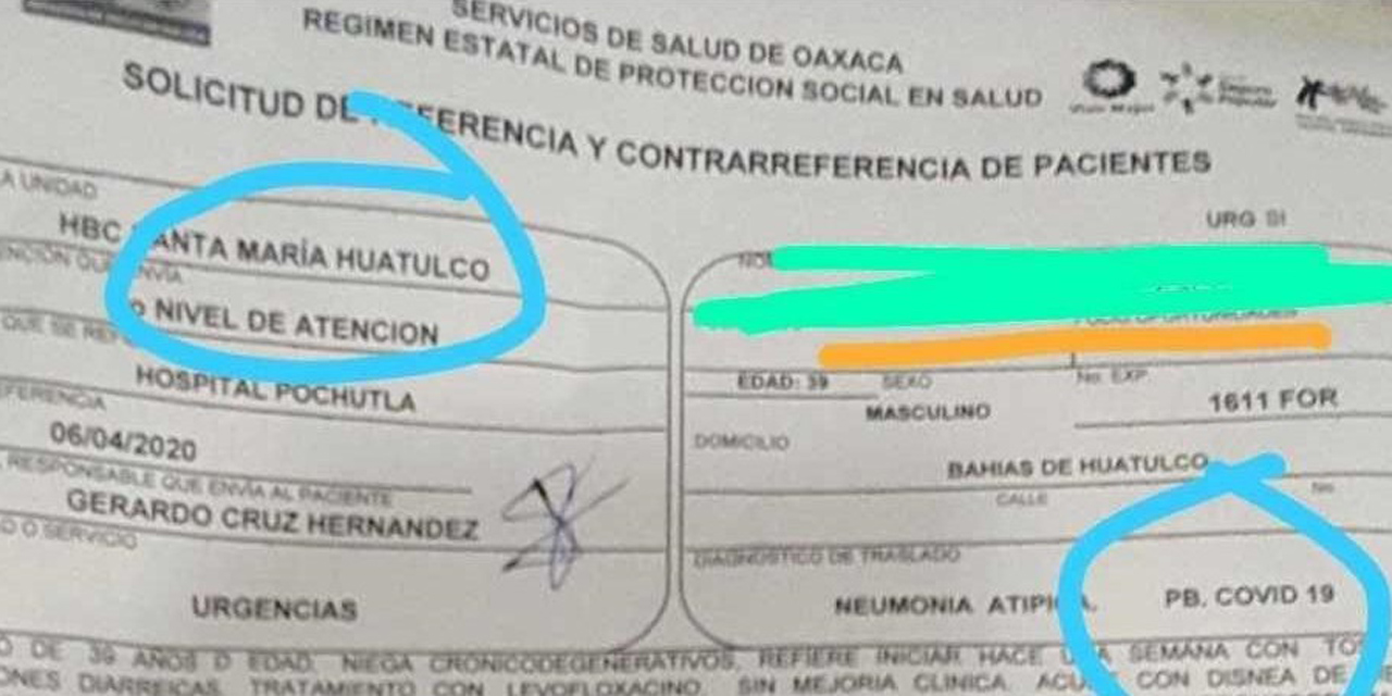 Confirman primer caso de Covid-19 en la Costa | El Imparcial de Oaxaca