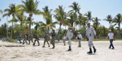 Vigila Guardia Nacional las playas de Oaxaca