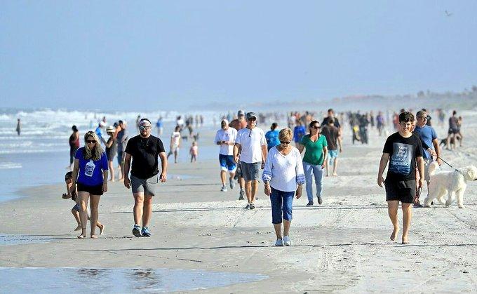 Video: Reabren playas en Florida y cientos la abarrotan ignorando medidas de prevención del Covid-19 | El Imparcial de Oaxaca