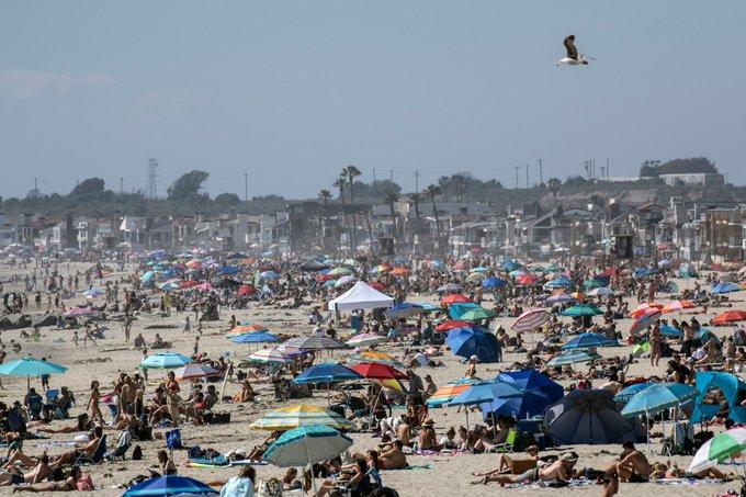 Abarrotan playas de California en plena pandemia | El Imparcial de Oaxaca