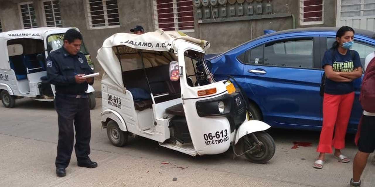 Mototaxista queda prensado en accidente | El Imparcial de Oaxaca