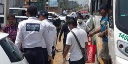 Pleito entre taxistas y policías en Salina Cruz