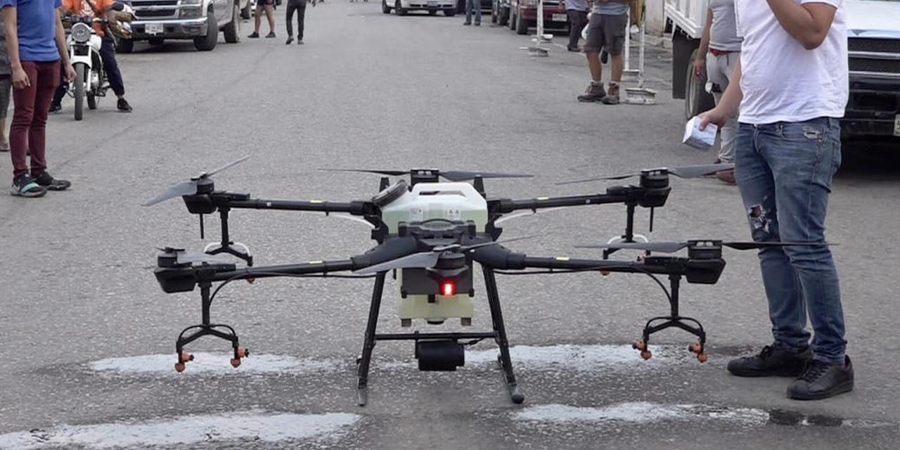 Sanitización con drones inicia en Oaxaca | El Imparcial de Oaxaca