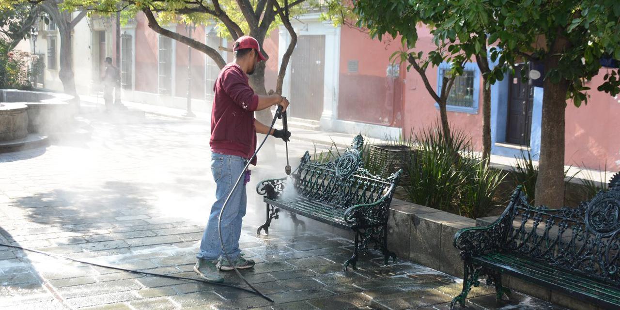 Alistan sanitización en espacios públicos de Oaxaca | El Imparcial de Oaxaca